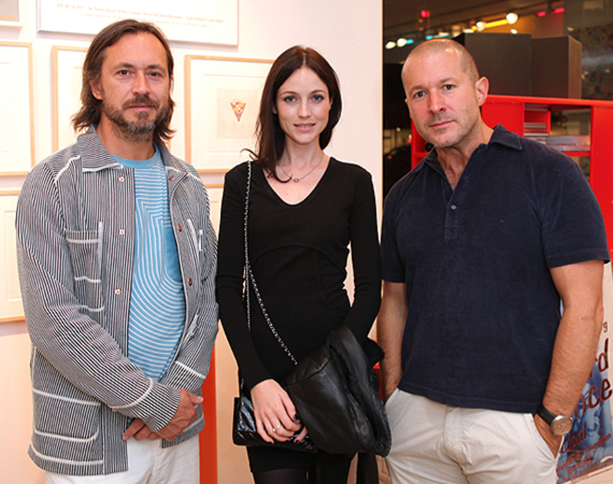 Marc Newson (Left), along with friend and Apple's Jonathan Ives (Right)