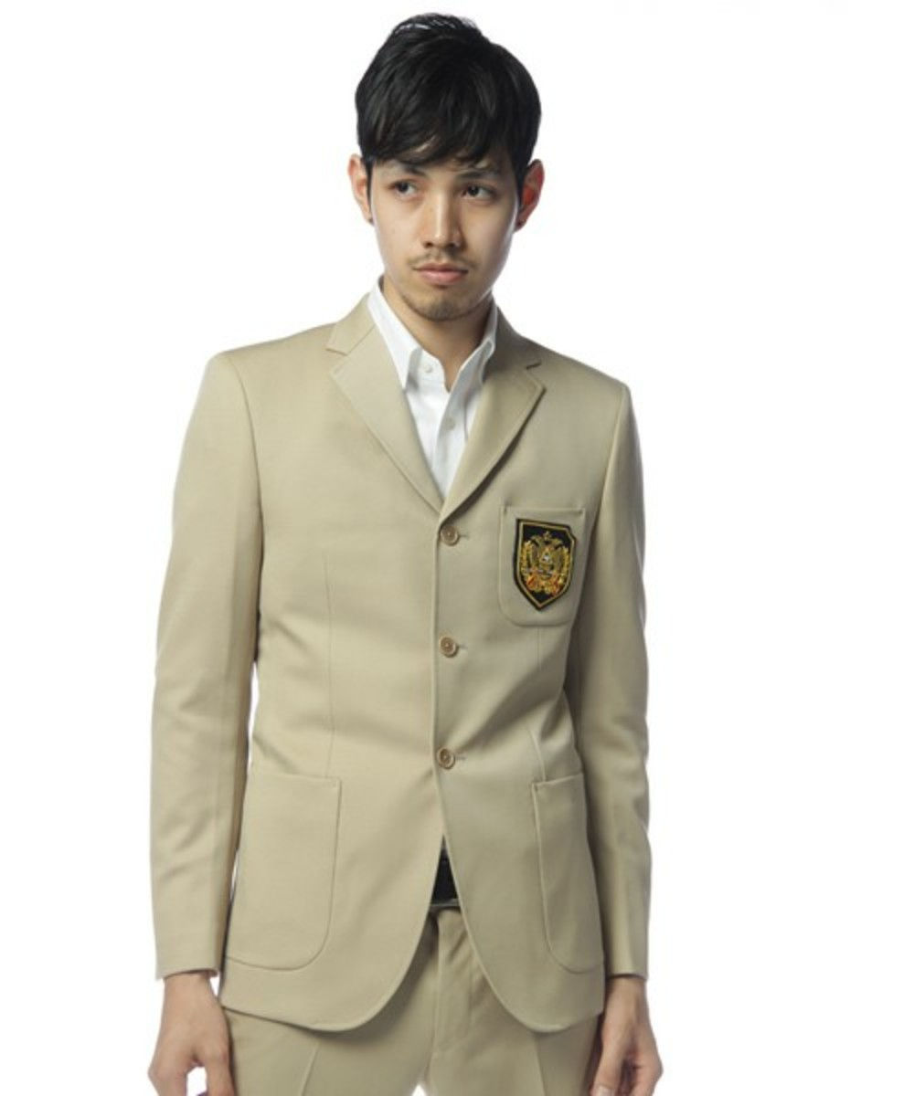 School Jacket Beige