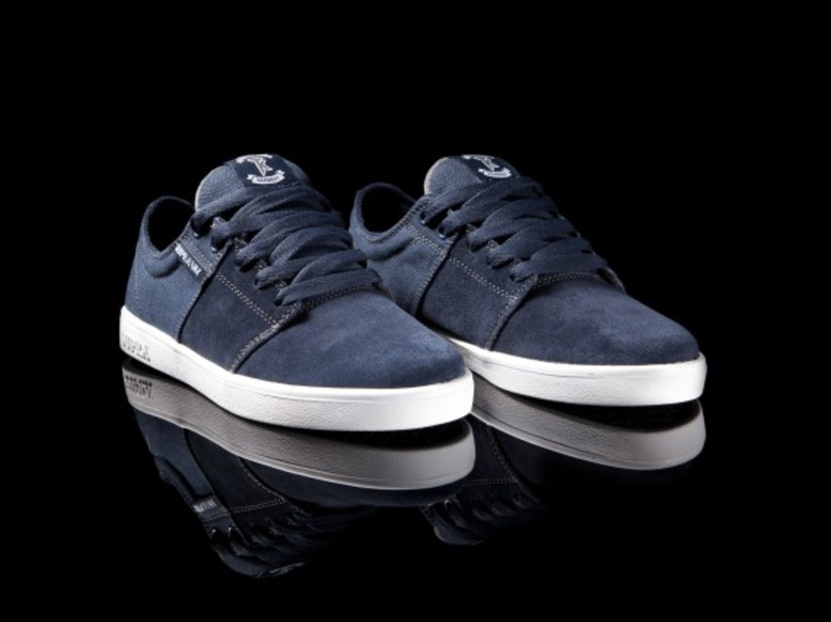 Stacks Navy Suede and Canvas 2