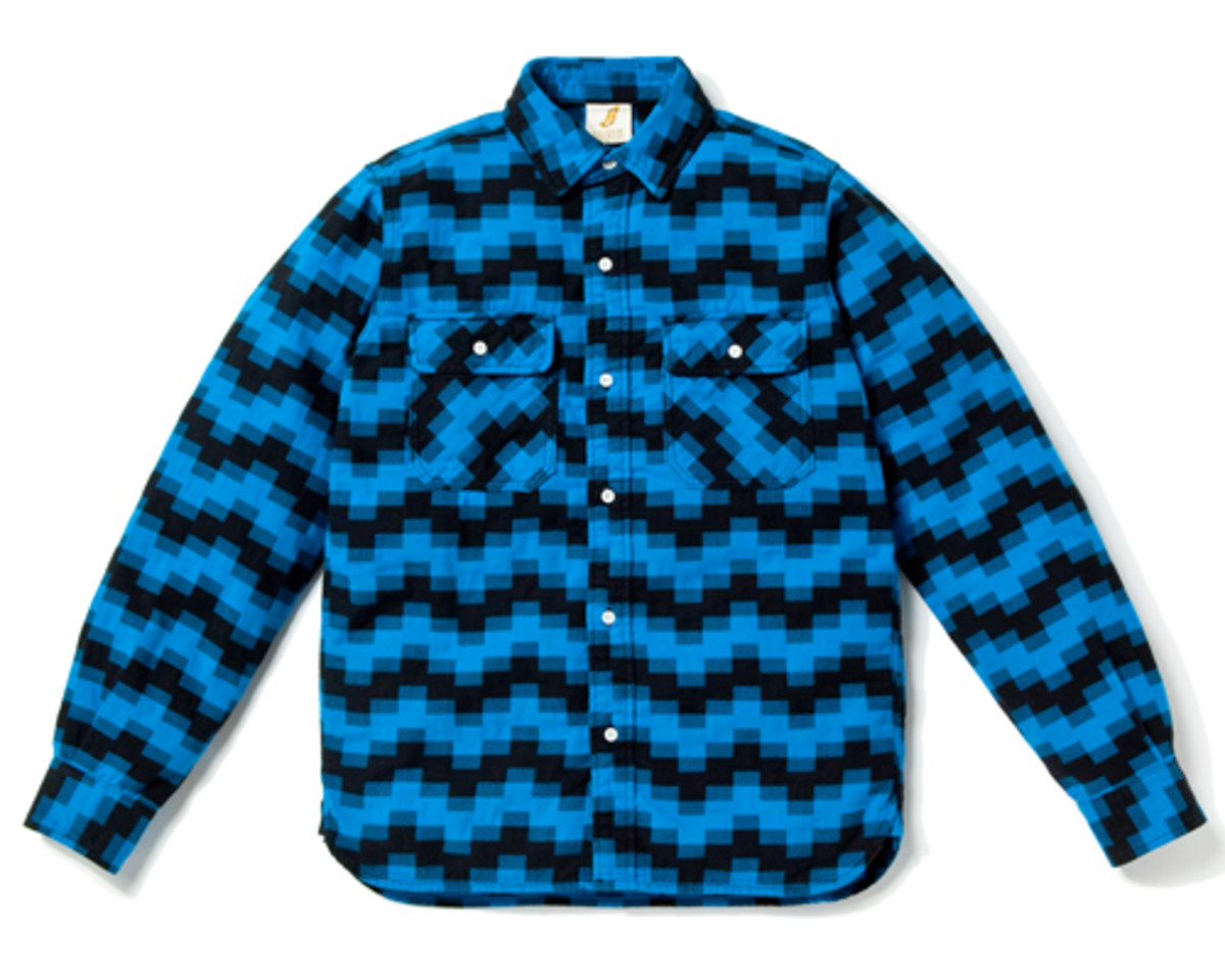 Digi Jack Elbow Patch Shirt Blue