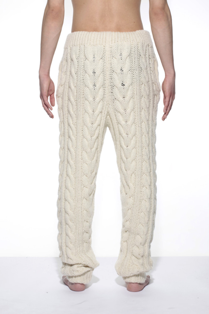 Knitted Pants White 2