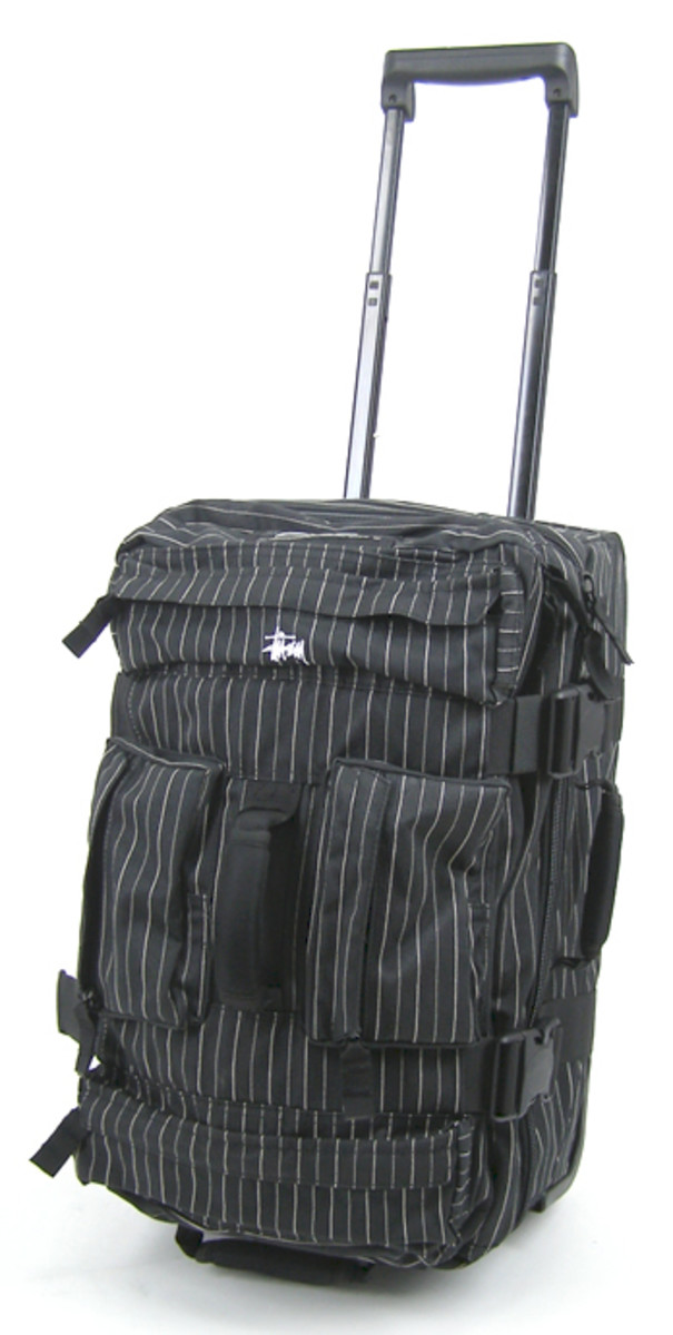 Stussy - Pinstripe Wheeled Bag Collection