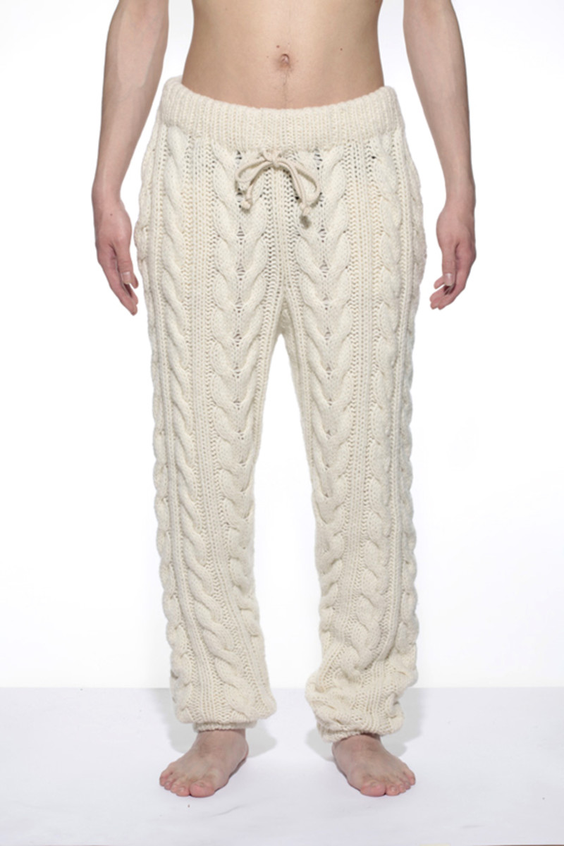 Knitted Pants White