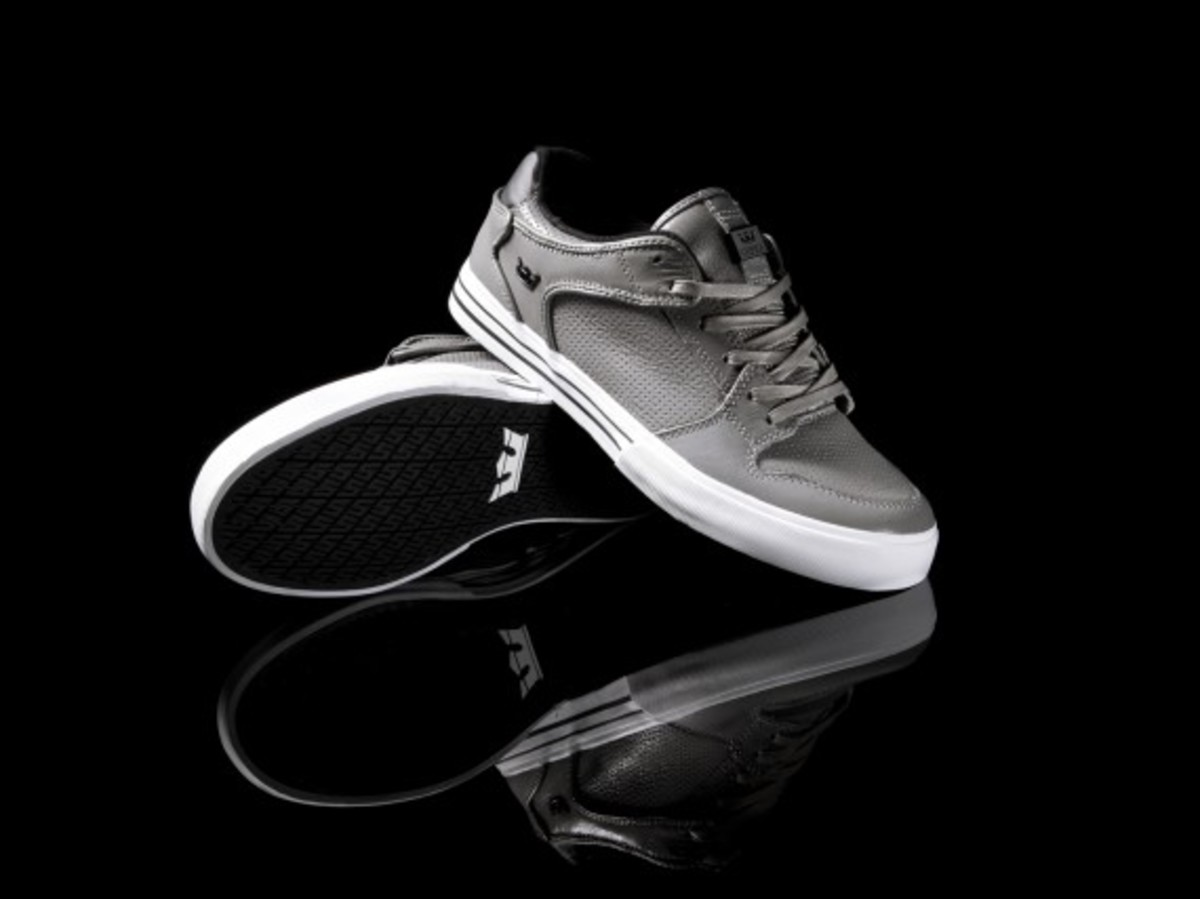 Vaider Low Grey Full-grain Leather