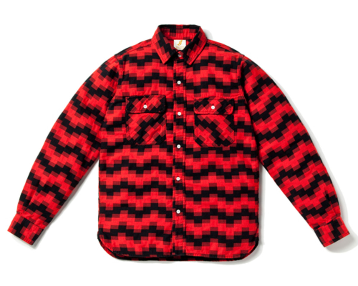 Digi Jack Elbow Patch Shirt Red