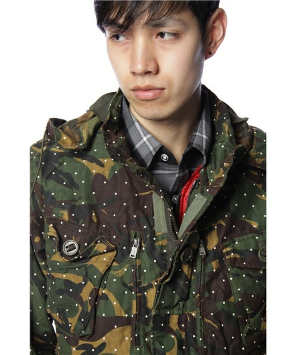 Dot Camo Army Oiled Jacket 3