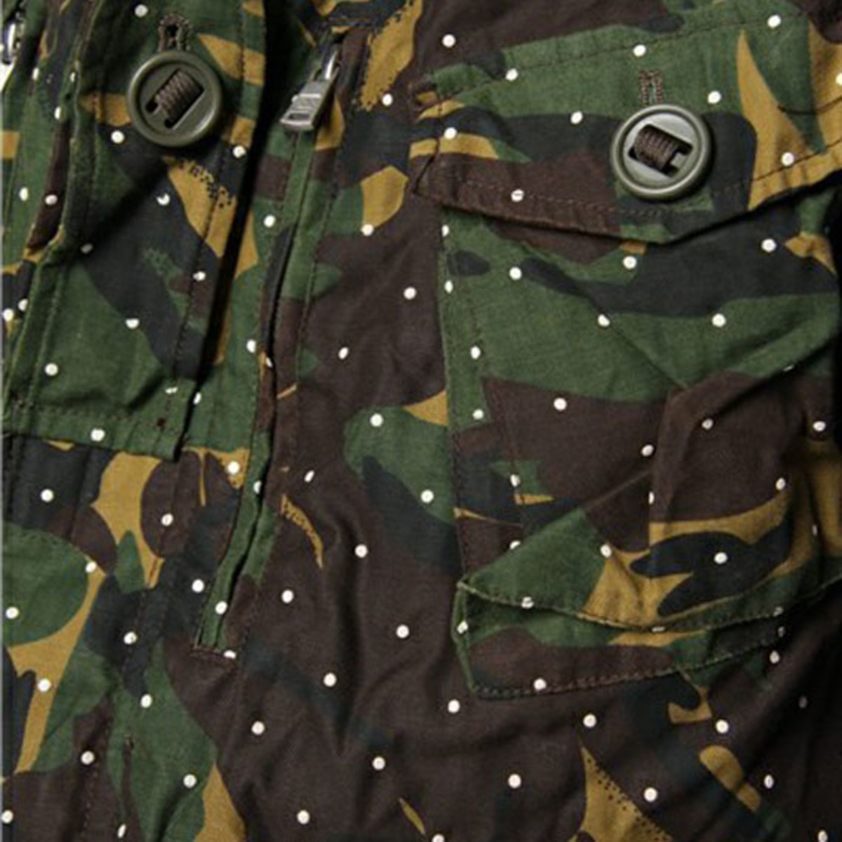 Dot Camo Army Oiled Jacket 4