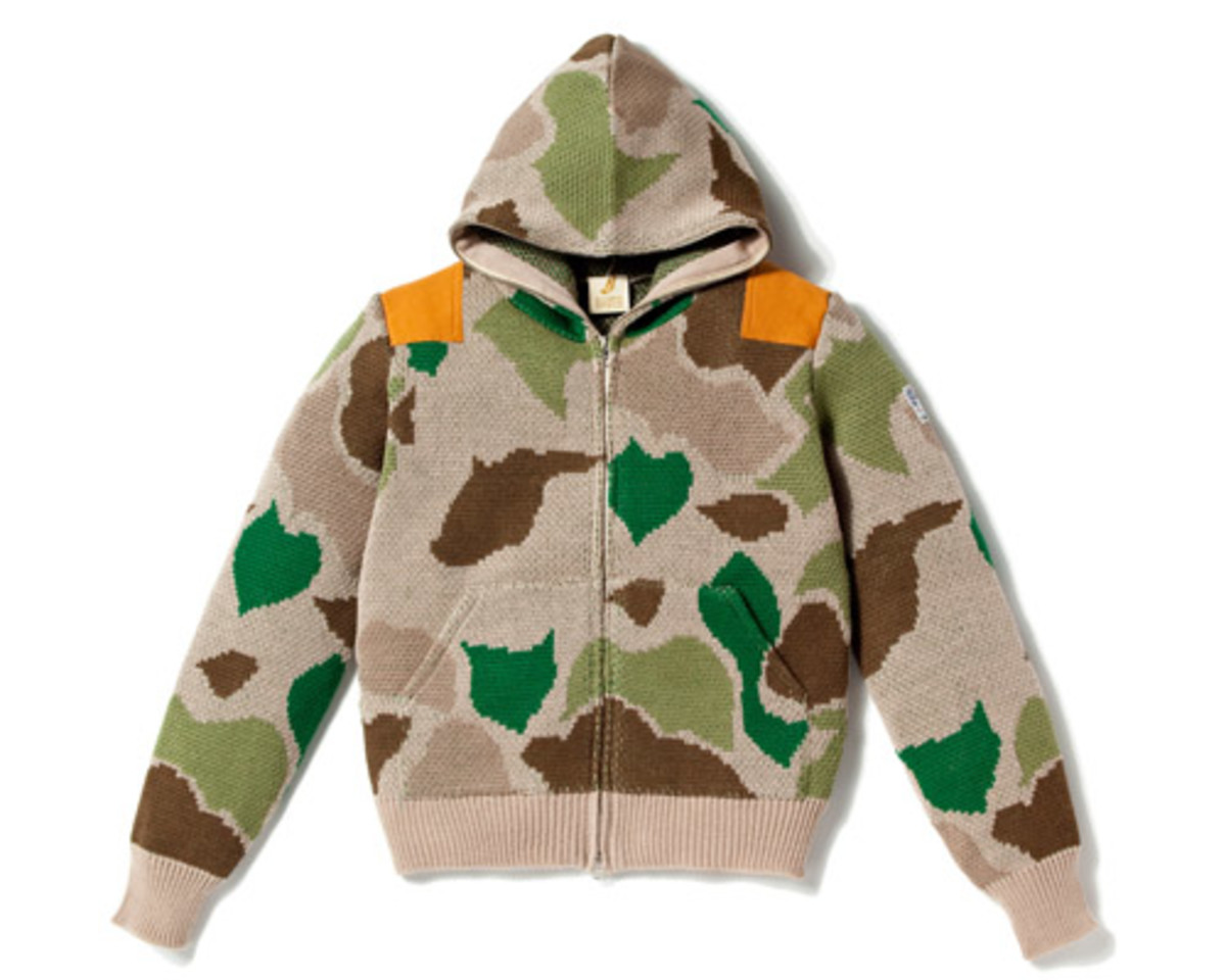 Camo Full Zip Sweater