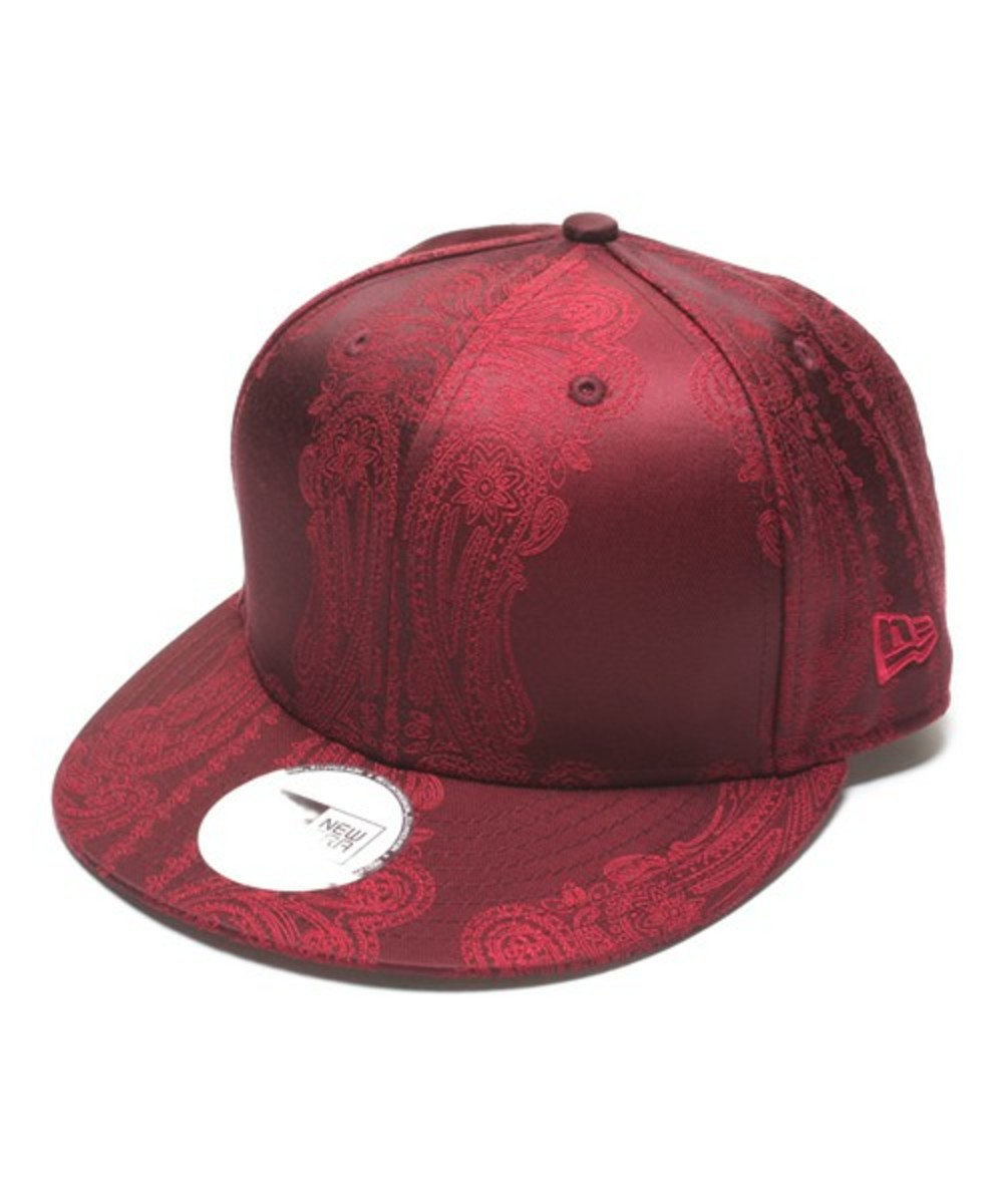 Paisley Snap Back Cap Wine