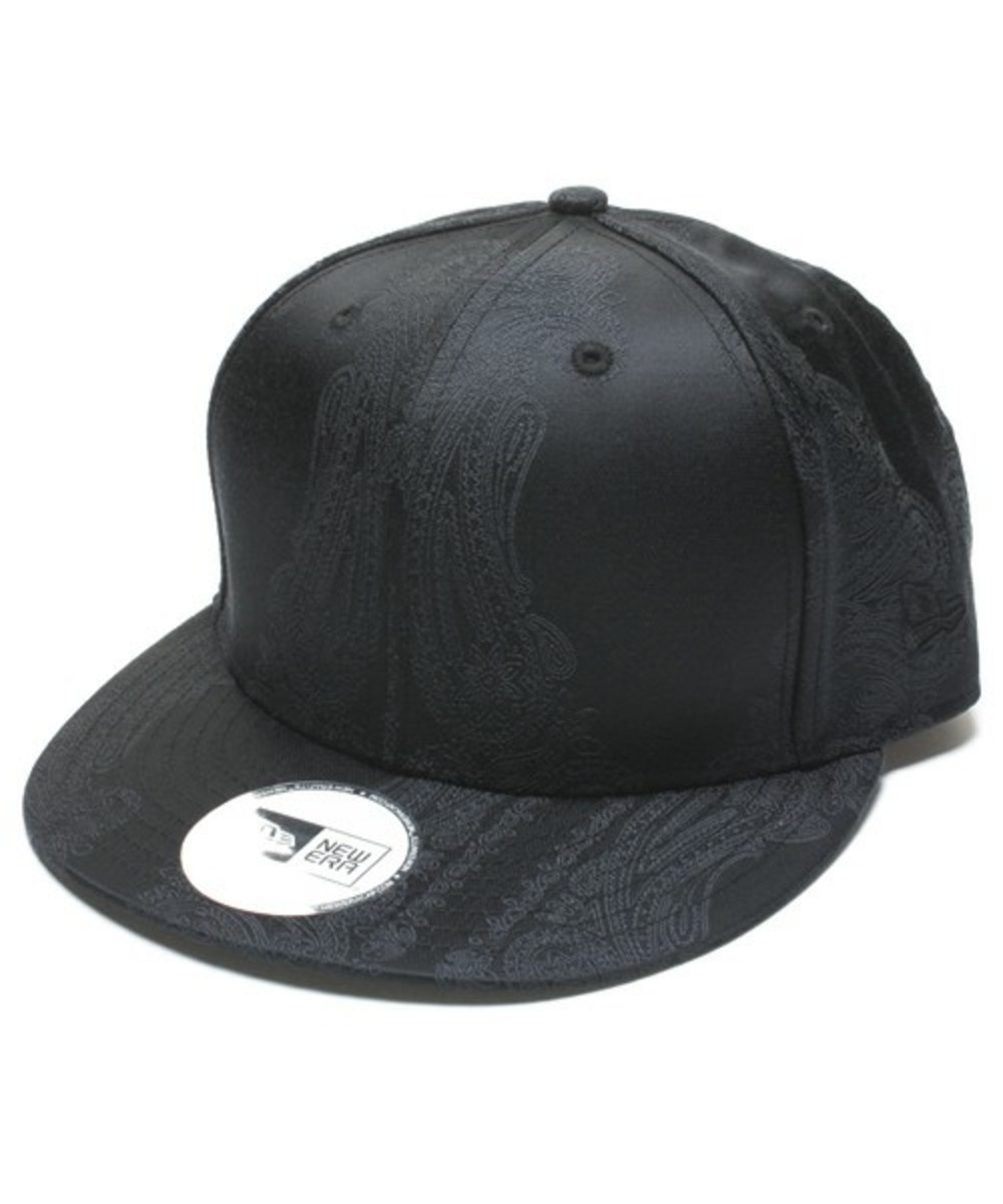 Paisley Snap Back Cap Black