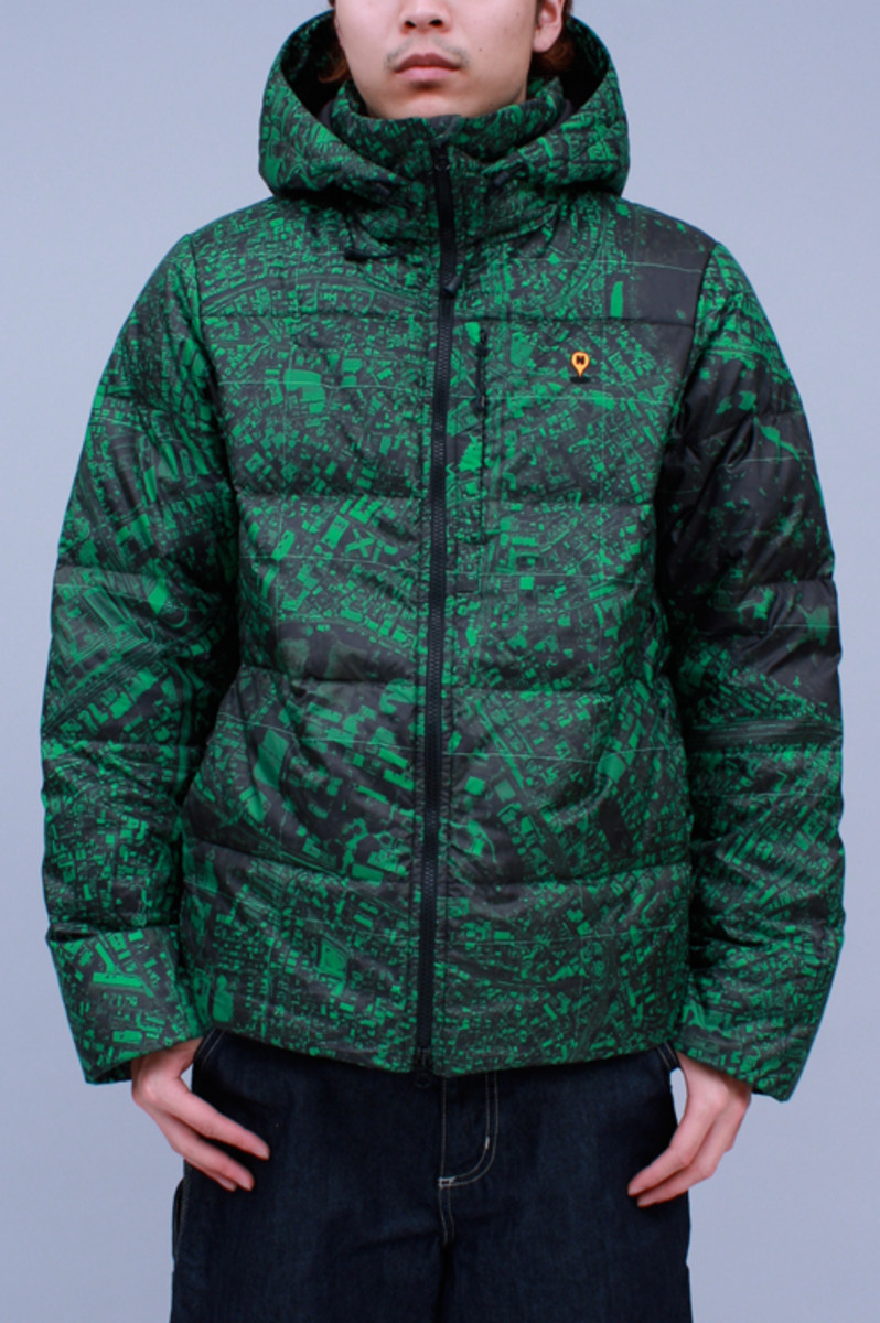Hooded Down Jacket Green