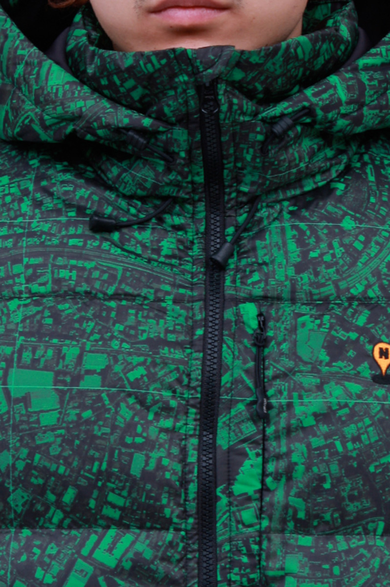 Hooded Down Jacket Green 3