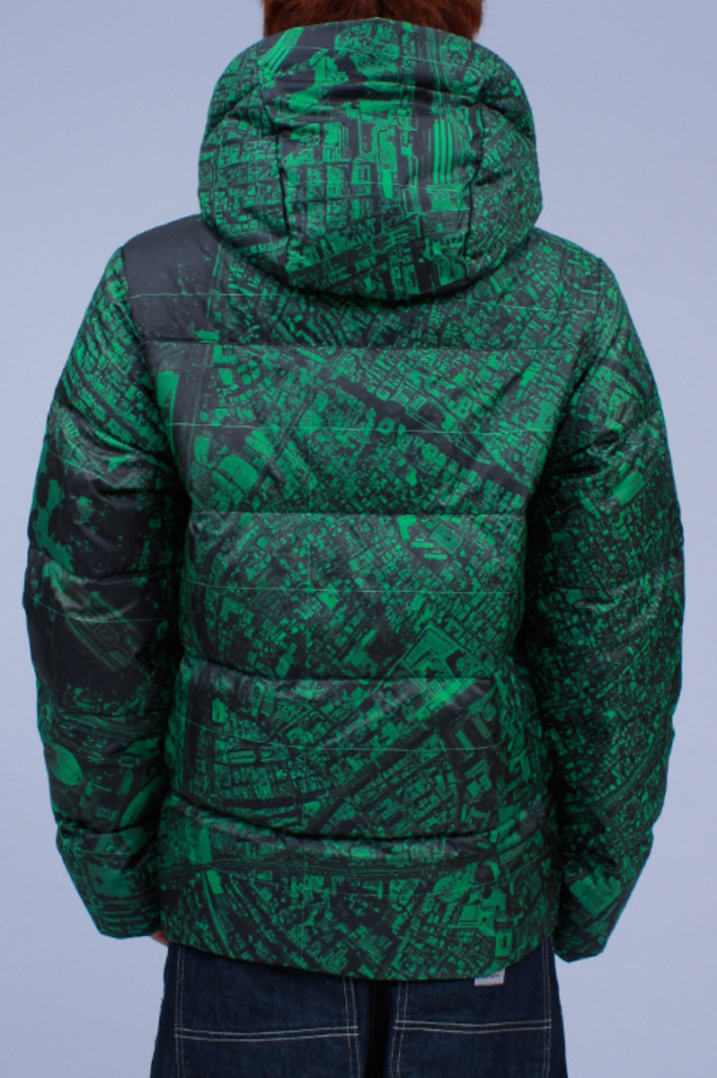 Hooded Down Jacket Green 2