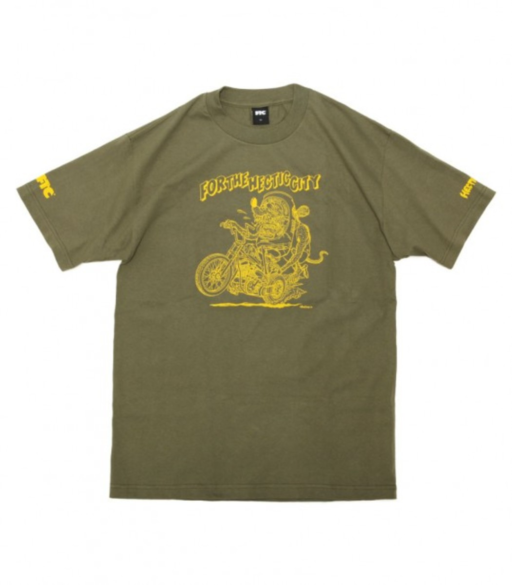 For The Hectic City T-Shirt Mil Green