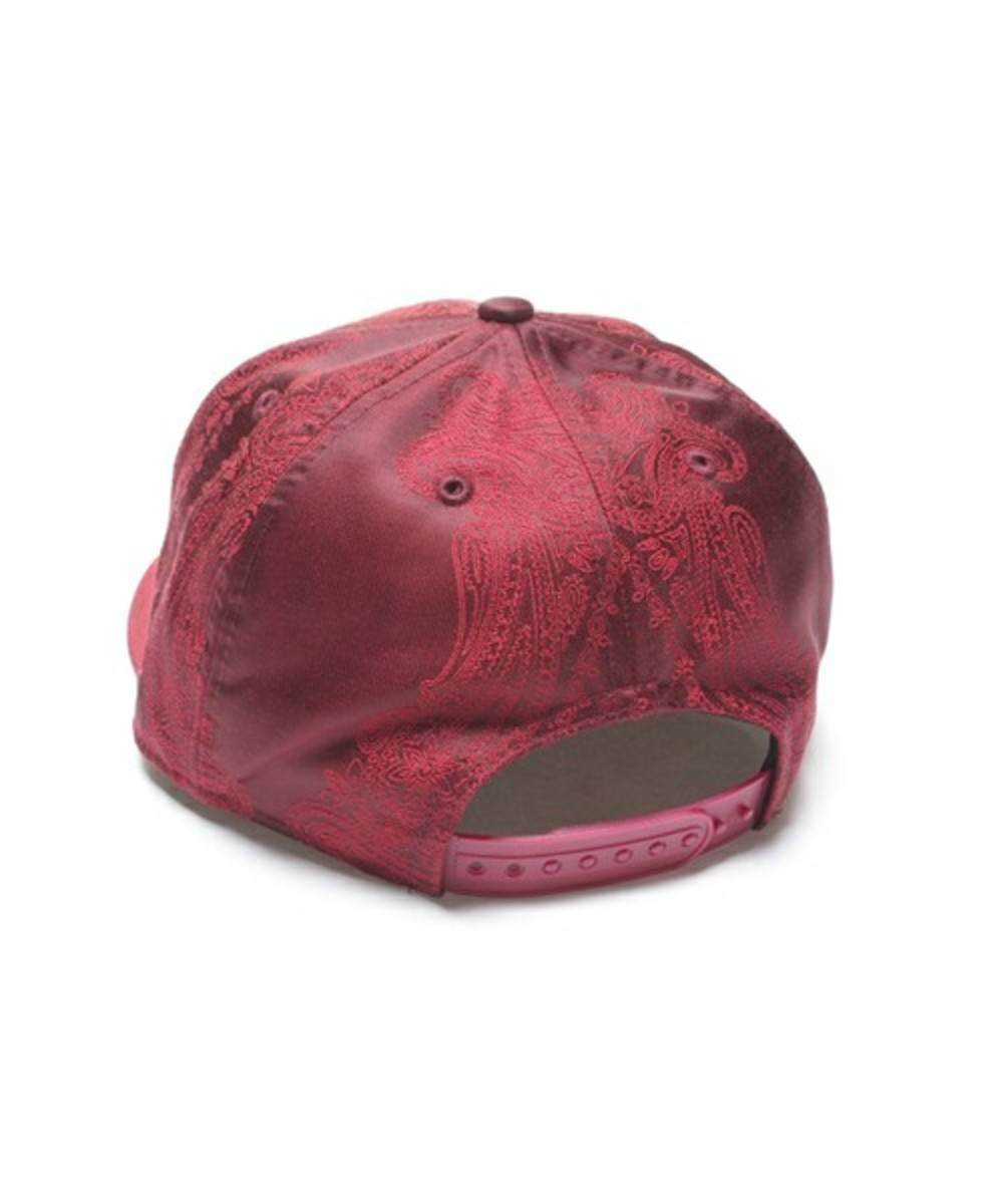 Paisley Snap Back Cap Wine 3