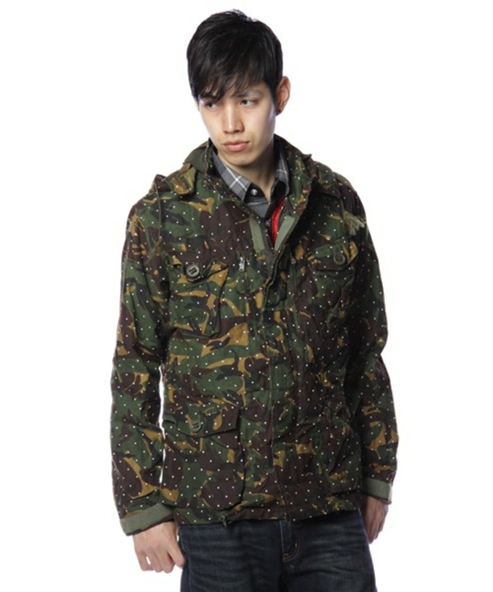 Dot Camo Army Oiled Jacket