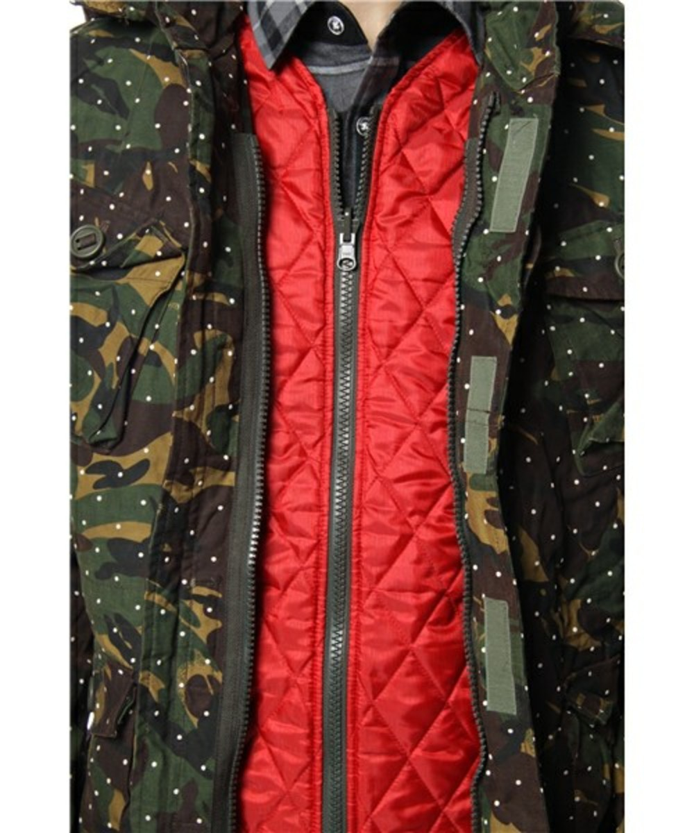 Dot Camo Army Oiled Jacket 7