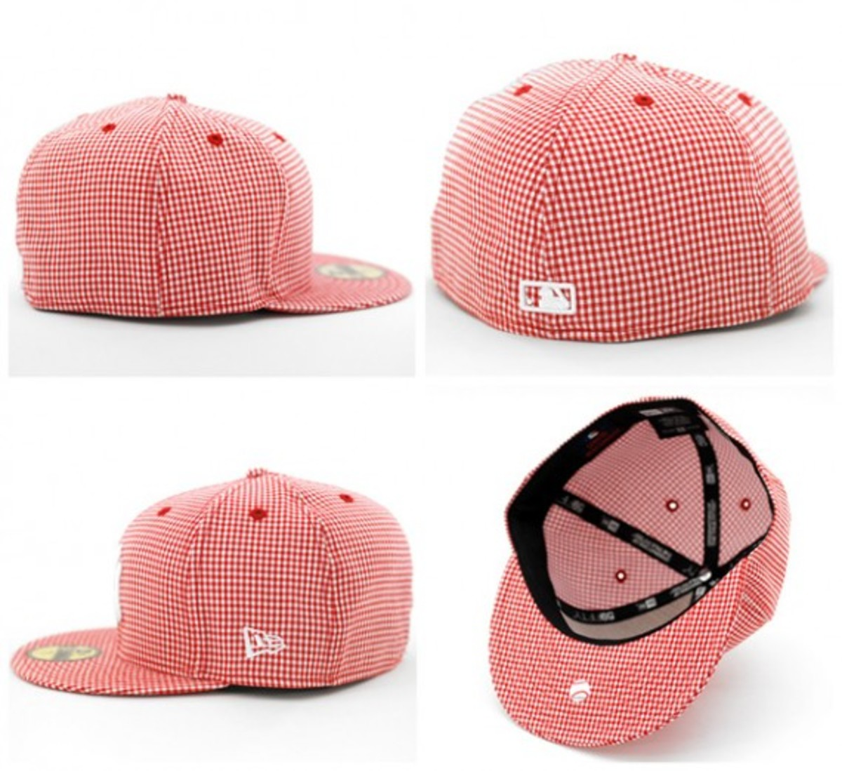 Gingham Check NY Yankees Red 2