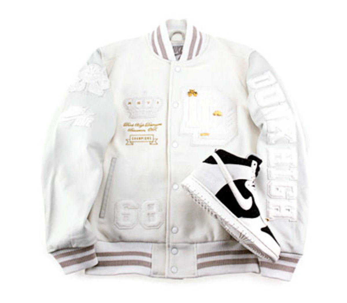 Nike x Destroyers - Dunk High + Letterman Jacket - 3