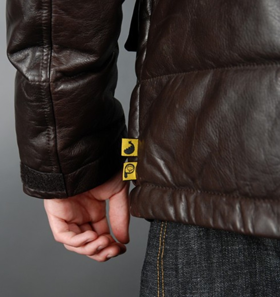 Penfield x WOOD WOOD - Leather Biker Down Jacket