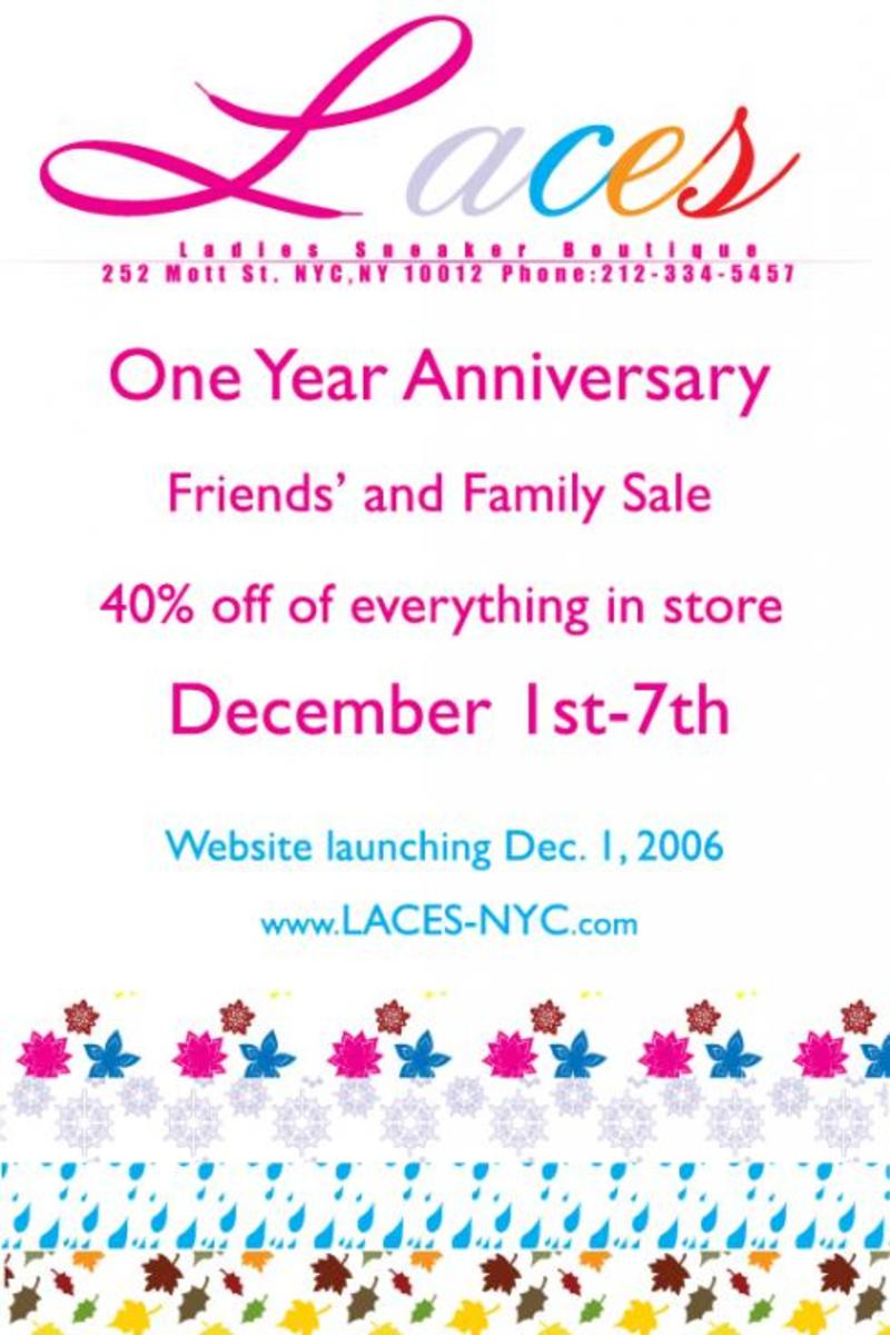 Laces - 1 Year Anniversary Sale - 2