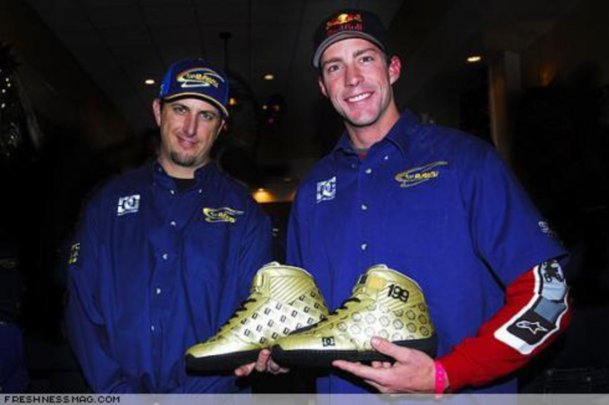DC Gold Rally Racing Shoes - 0