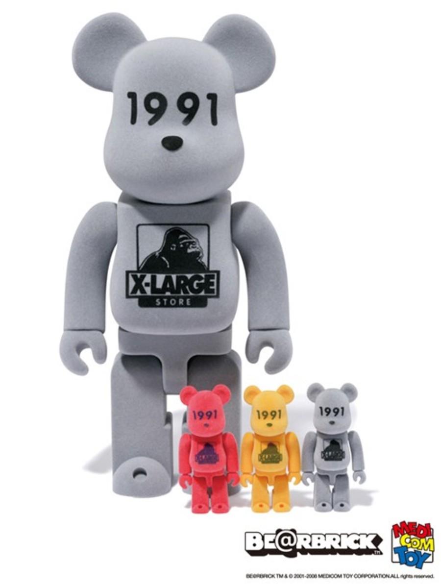 XLARGE x MEDICOM TOY - 100% & 400% Flock BE@RBRICK