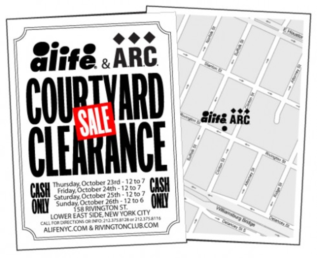 Alife & A.R.C. Courtyard Clearance Sale