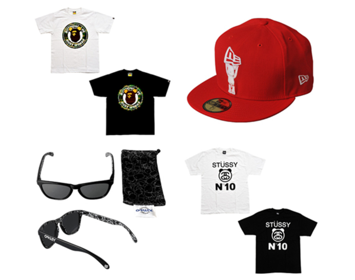 cdf6d6ac2bb MEDICOM TOY x BAPE x Stussy x Oakley x New Era - 15th Anniversary Collection