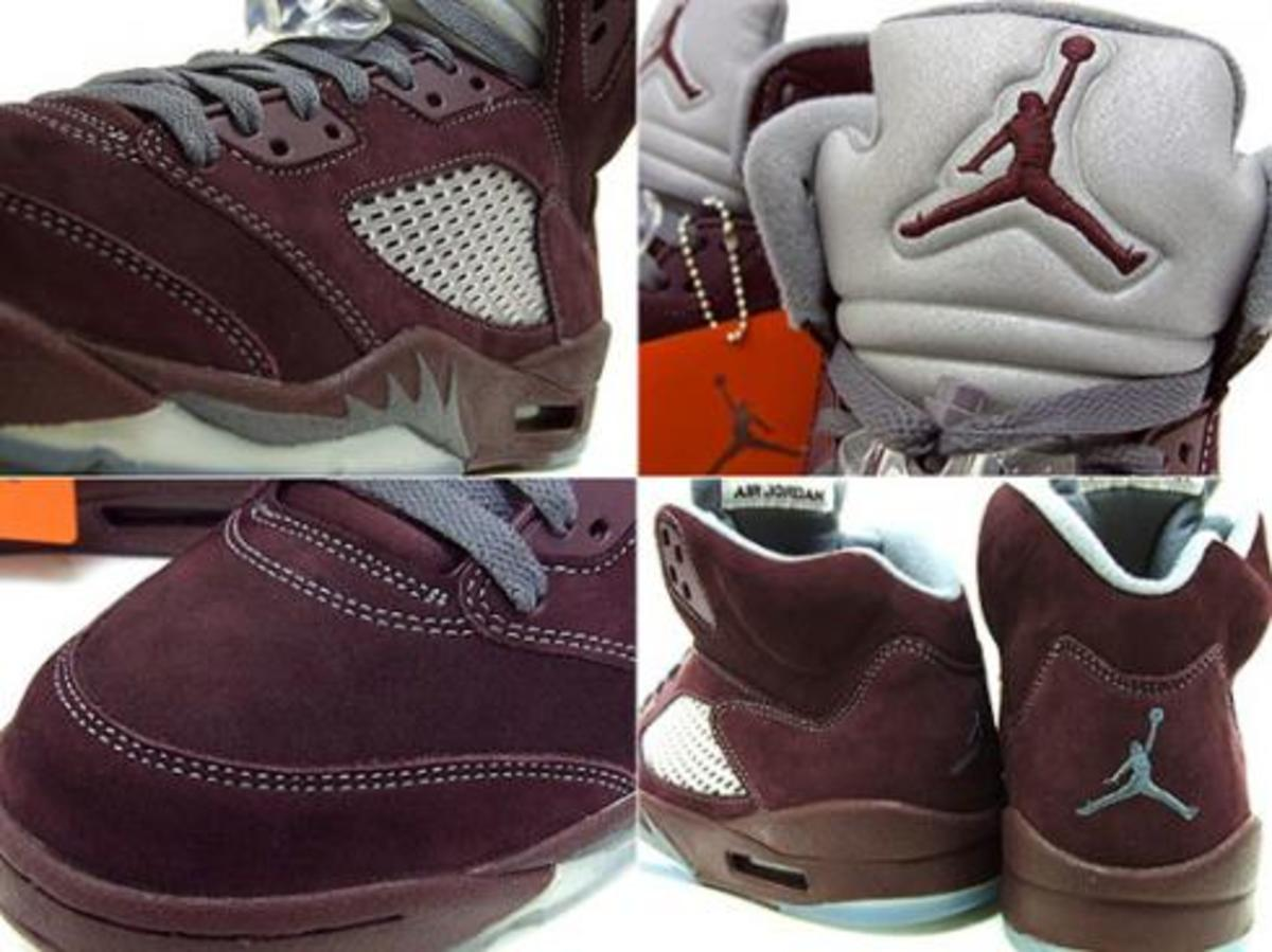 Air Jordan 5 (5) - LS Burgundy @ essense - 1