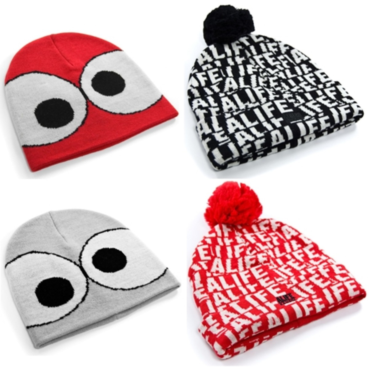 ALIFE x Kangol - Bugged & Stuck Up Pom Pom Beanie