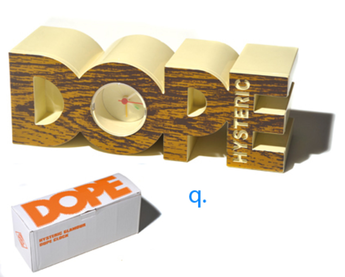 """Hysteric Glamour - """"DOPE"""" Clock - 0"""