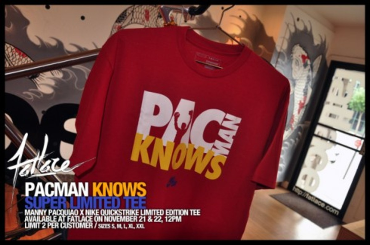 "Manny Pacquiao x Nike - ""PACMAN KNOWS"" T-Shirt - 1"