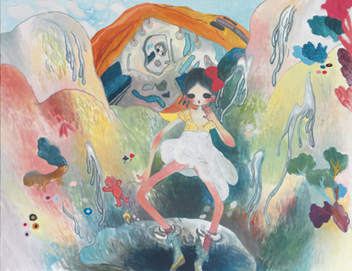 Aya Takano - I had a dream, in the aftermath of the disaster, water was gushing out from the mountains, and formed a pond