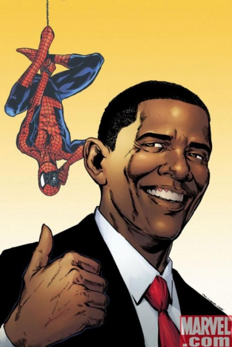 Marvel Comics - Barack Obama x The Amazing Spider-Man