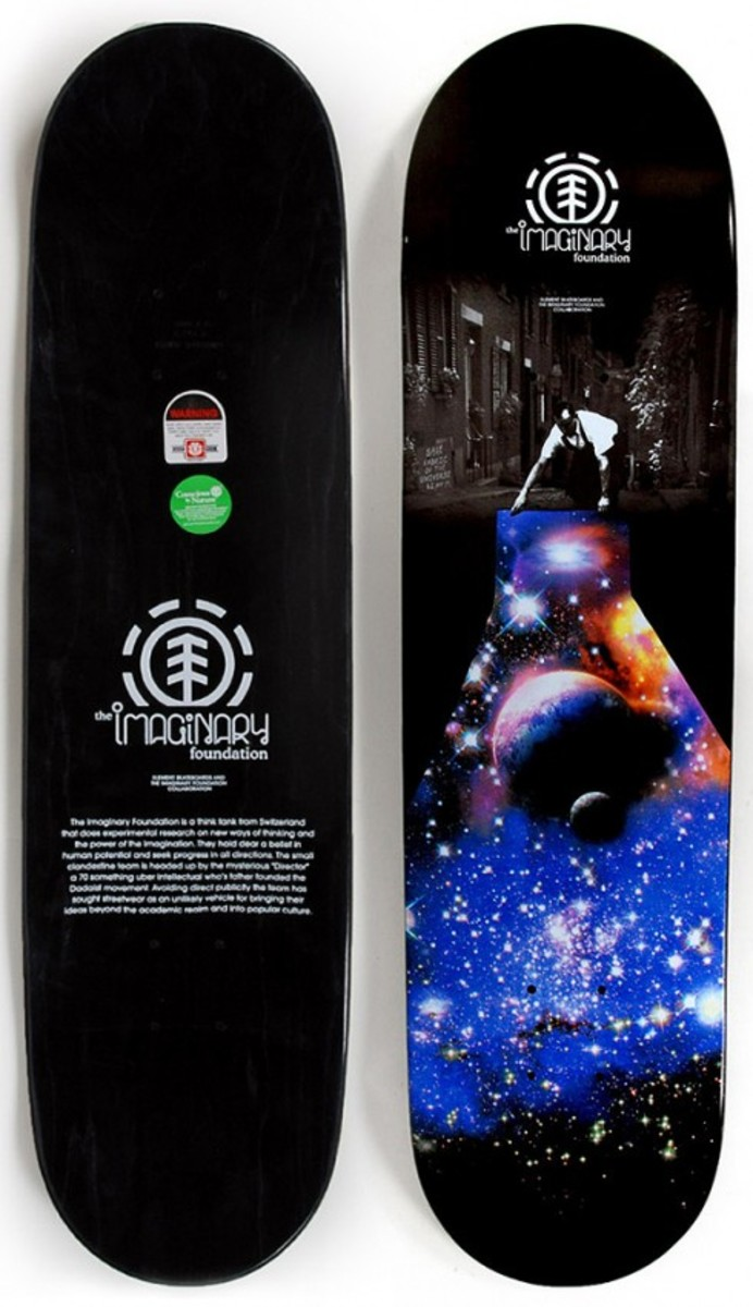 Imaginary Foundation x element Skateboards - Fabric of the Universe