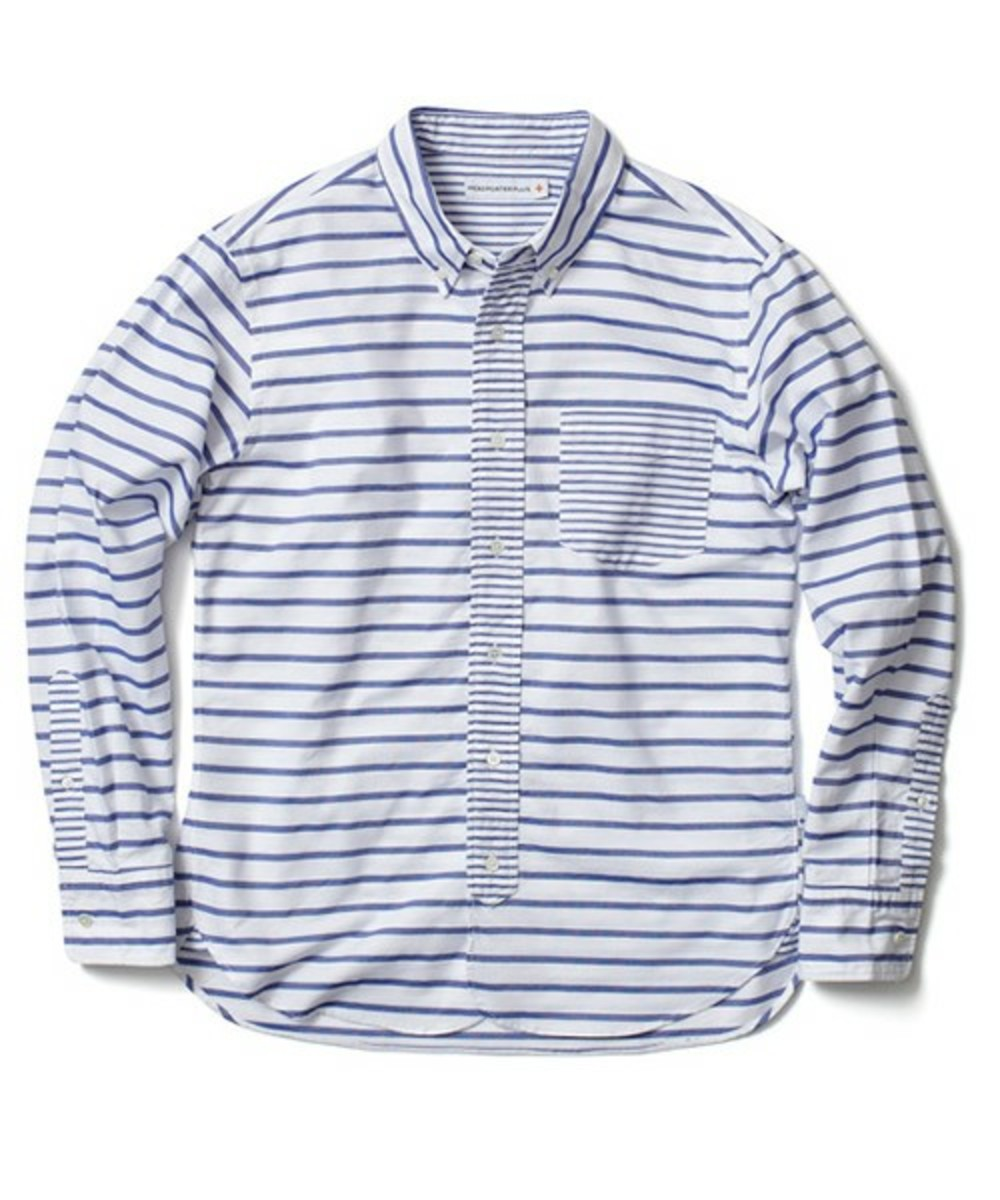 head-porter-plus-border-oxford-shirt