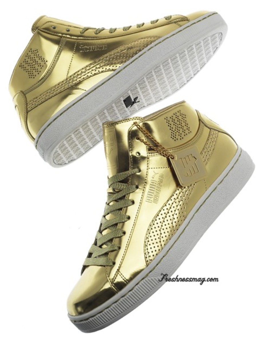 UNDFTD x PUMA - 24K Mid Collection - Gold Edition - Freshness Mag c8a5ec511f
