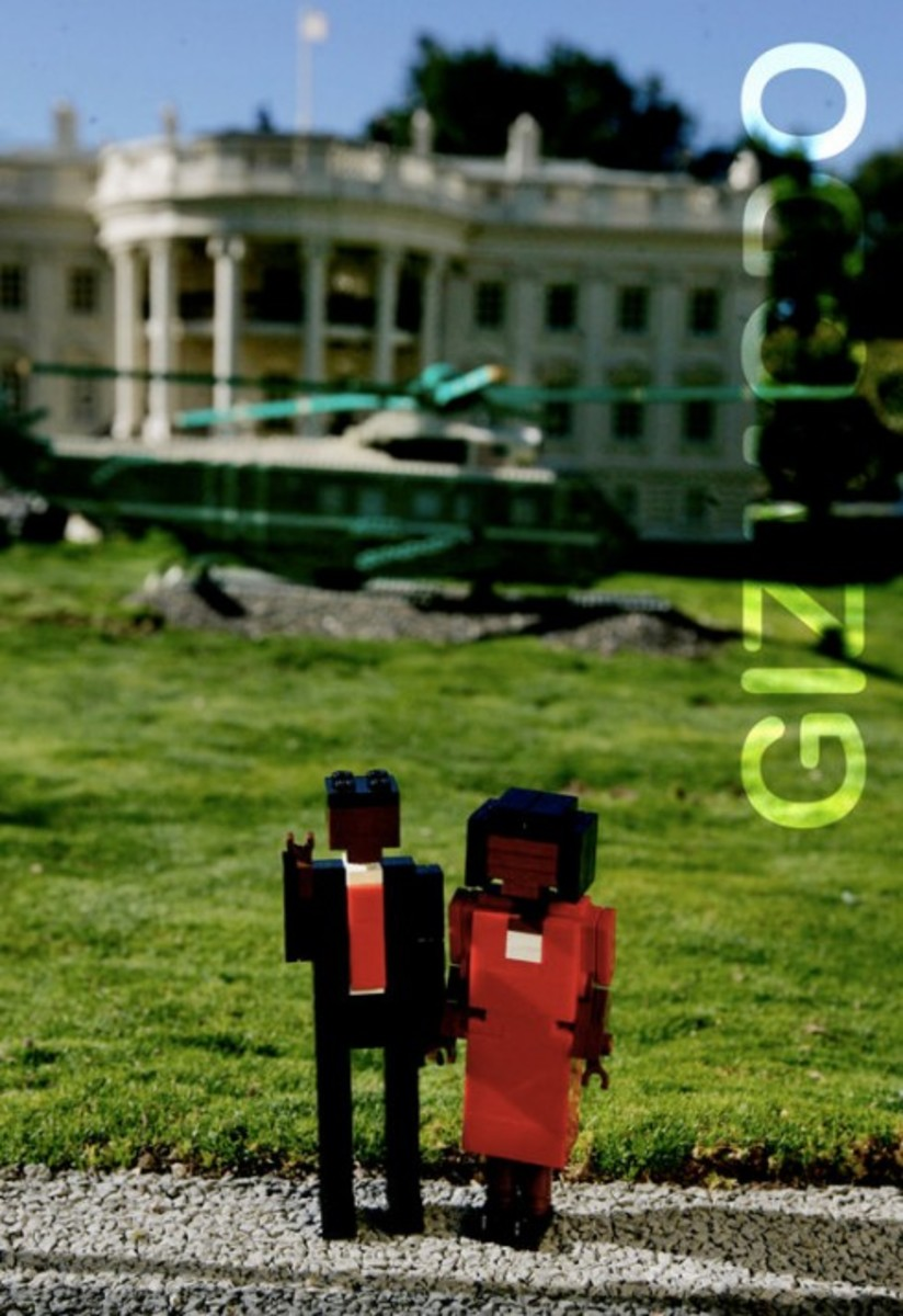 LEGO - Barack Obama Presidential Inauguration Display
