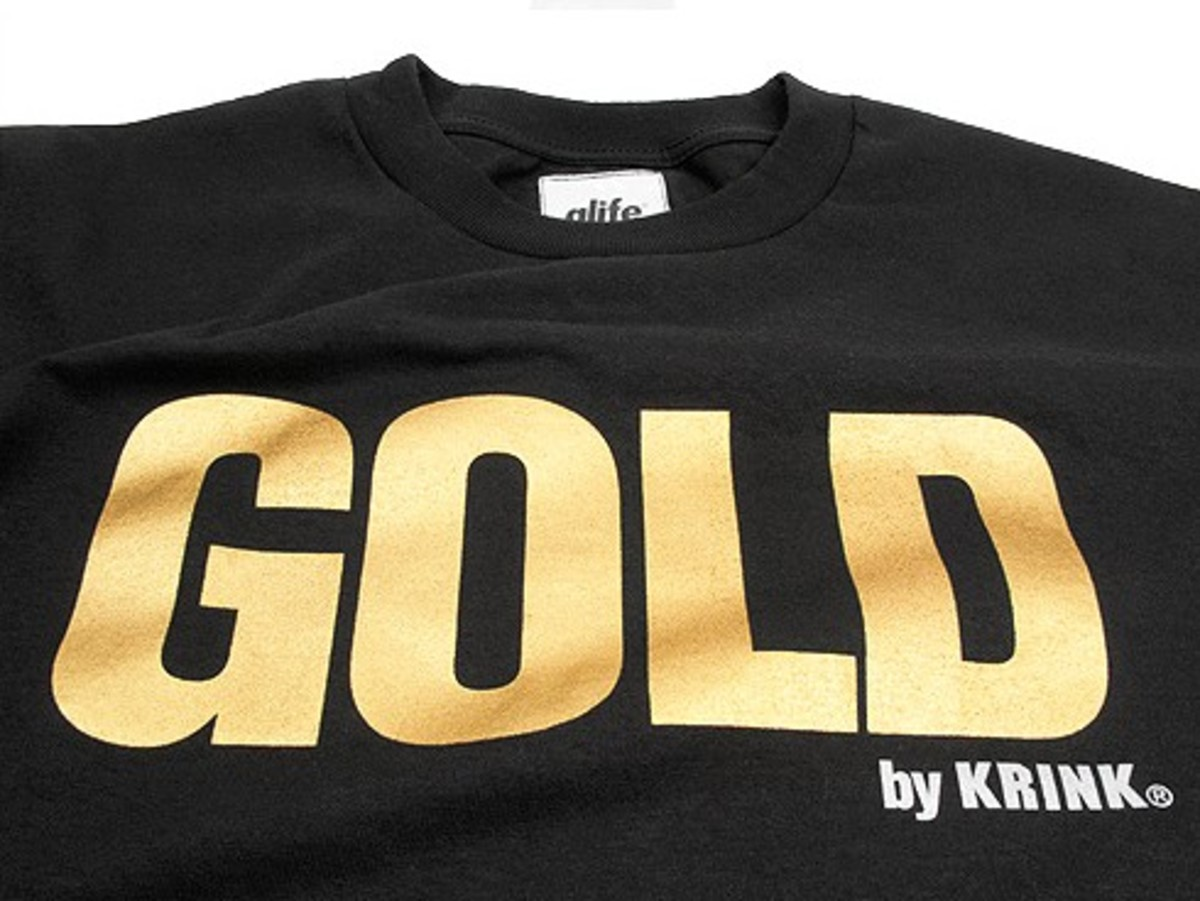 ALIFE x KRING - Gold By KRINK T-Shirt + Paint Pack