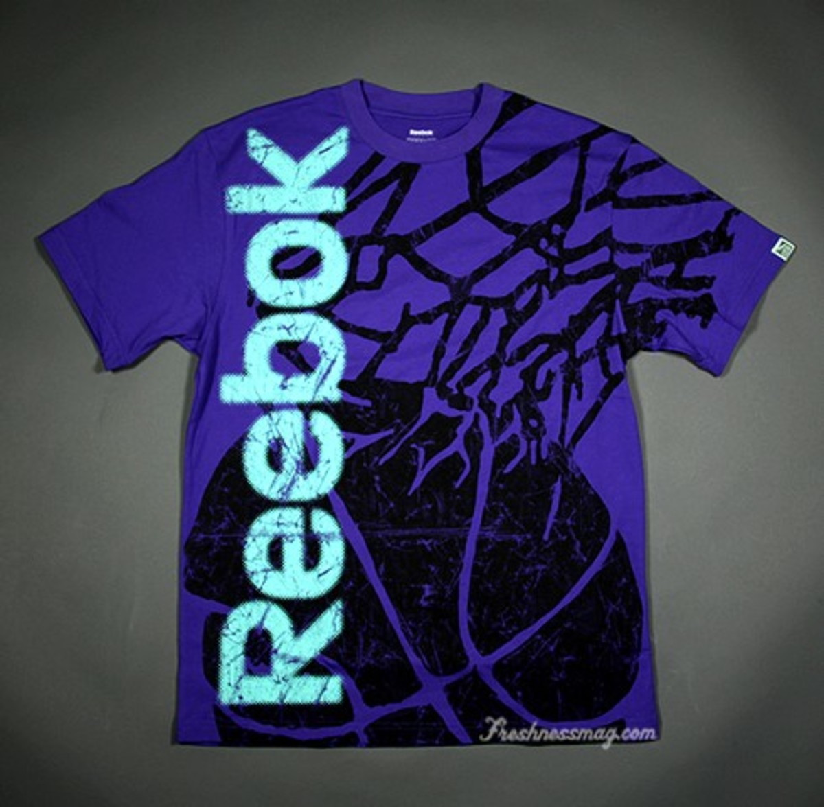 reebok dri fit t shirt womens purple
