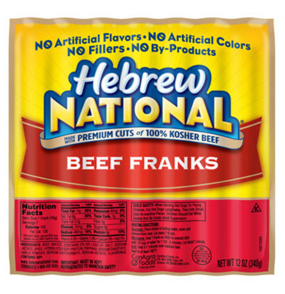 4. Hebrew National Kosher Hot Dogs