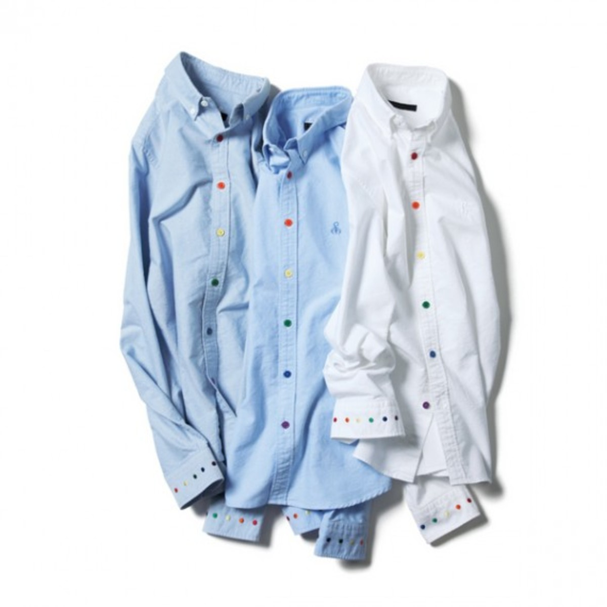 sophnet-multi-color-dot-oxford-button-down-shirt