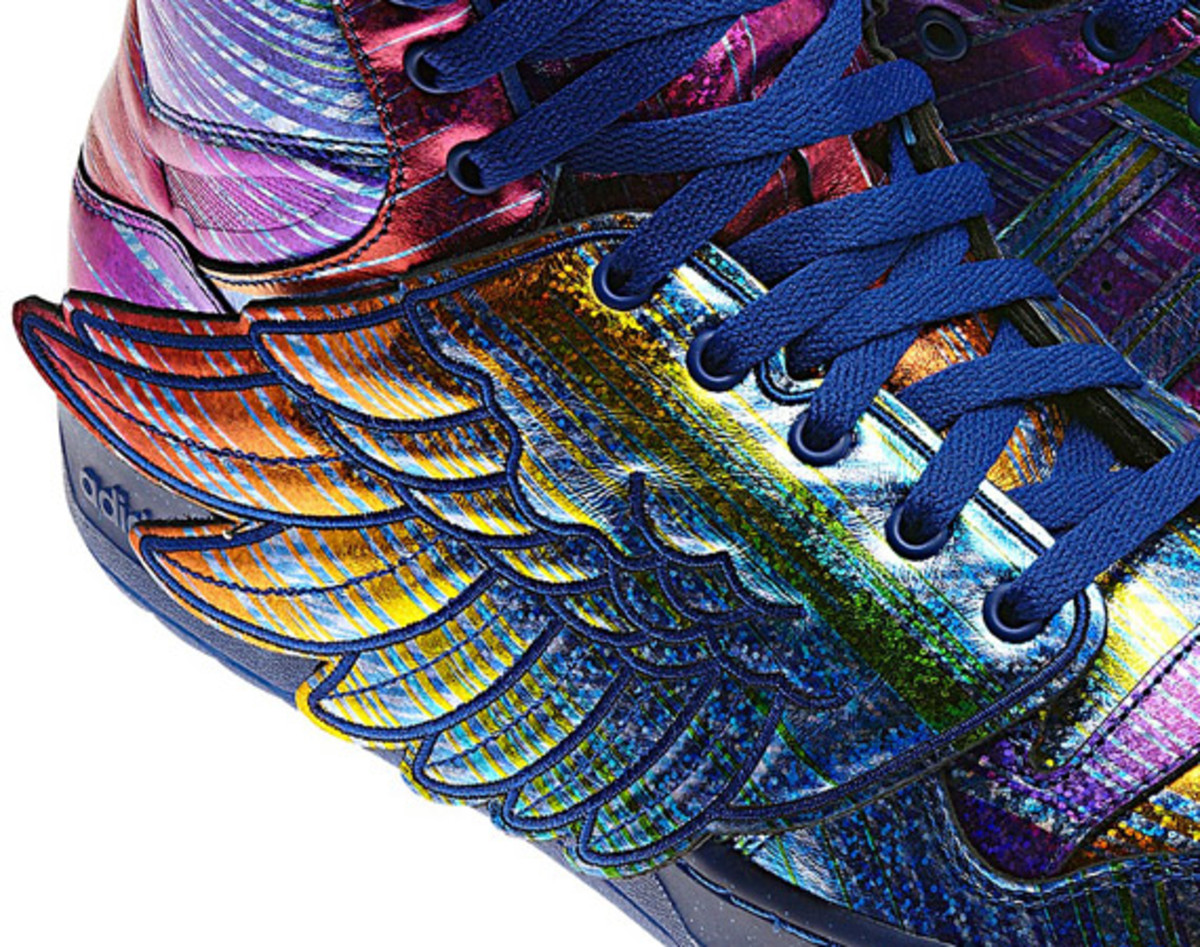 adidas Originals by Jeremy Scott   JS Wings Synthetic Rainbow Hologram | Detailed Look