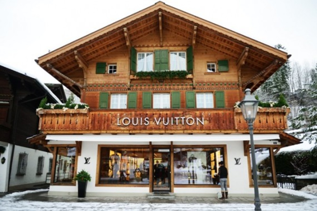 Louis Vuitton Gstaad Resort Inspired By Swiss Chalet