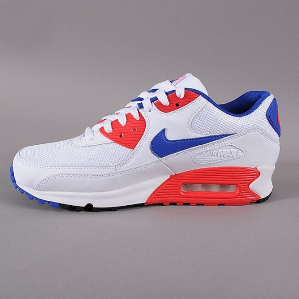 another chance 97f1b fc994 Nike Air Max 90 Essential - White/Hype Blue/Hyper Red ...