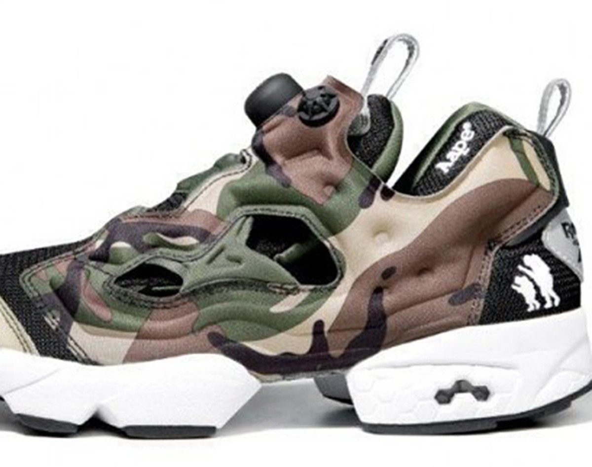 71c99ca8 AAPE by A Bathing Ape X Reebok Intsa Pump Fury -