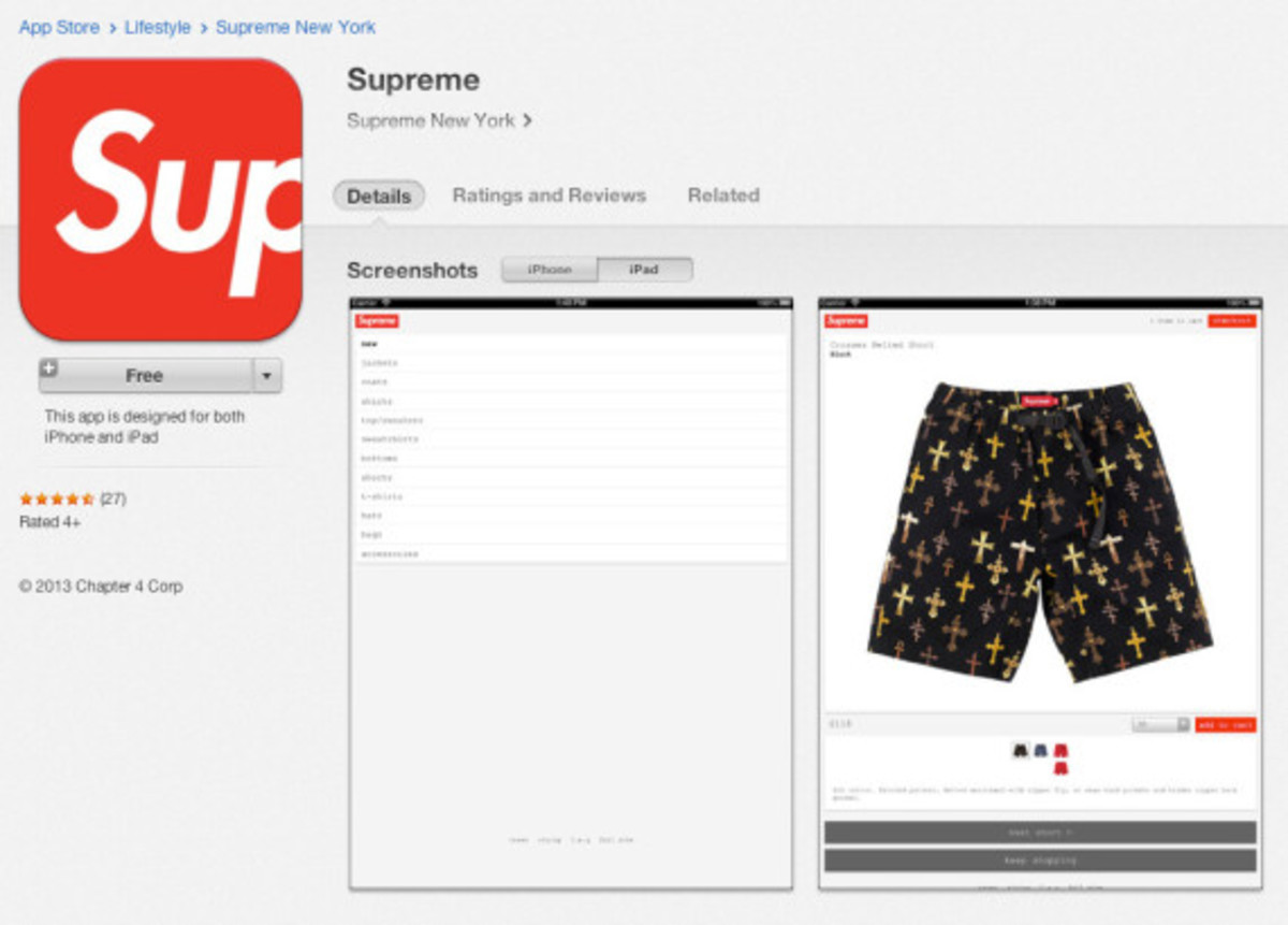 supreme launches official mobile app for apple ios devices