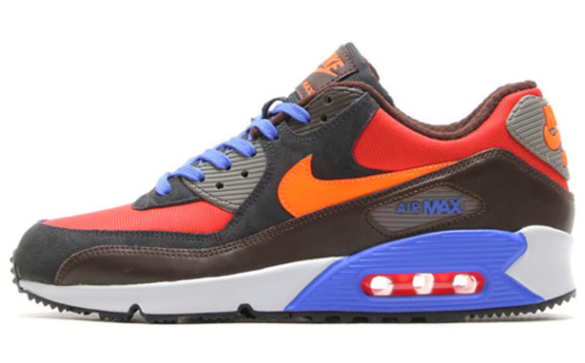 Nike Air Max 90 Winter PRM Style: 683282-600 Color: Red Clay/Hyper Crimson-Black Pine