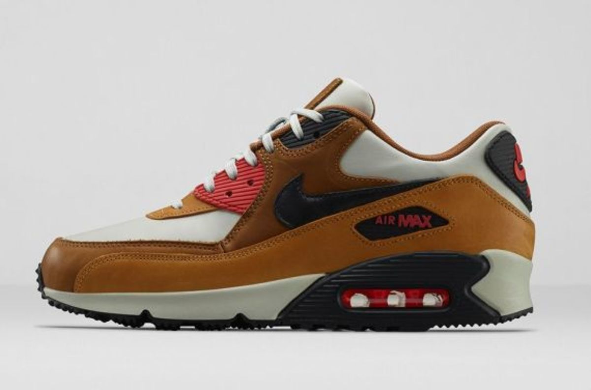 Nike Air Max 90 Escape 718303-002 Light Bone/Ale Brown/Bronze/Black Pine $160